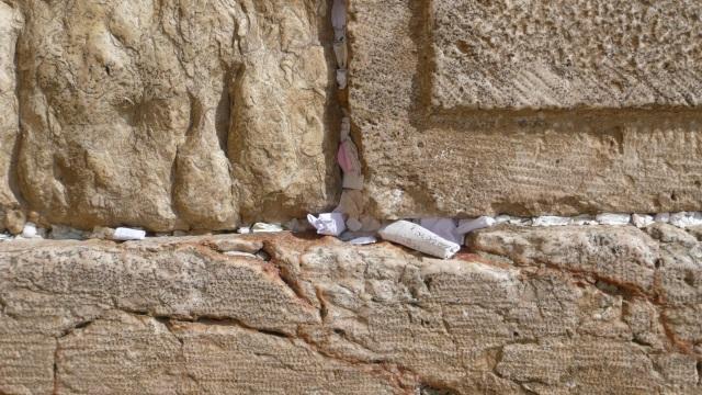 Gebetszettel in der Klagemauer , Jerusalem, Israel, 2010